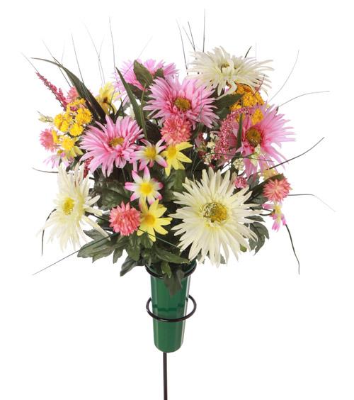 Graveside Silk Flower Arrangements